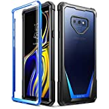 Galaxy Note 9 Case, Poetic Guardian [Scratch Resistant Back] [360 Degree Protection] Full-Body Rugged Clear Hybrid Bumper Case with Built-in-Screen Protector for Samsung Galaxy Note 9 Blue