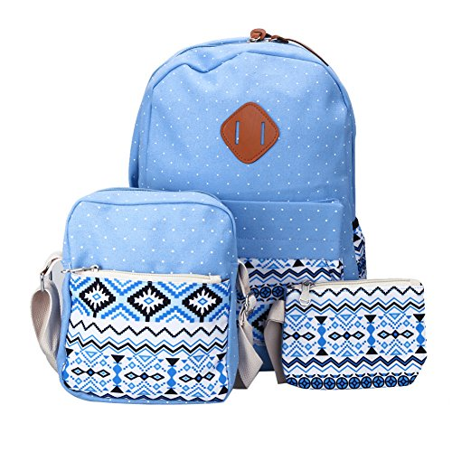 Demiawaking - Bolso mochila  para mujer azul claro
