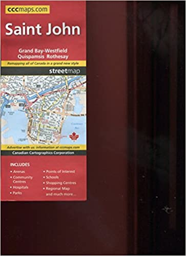 Map Of Saint John Fredericton New Brunswick Canada Includes Grand
