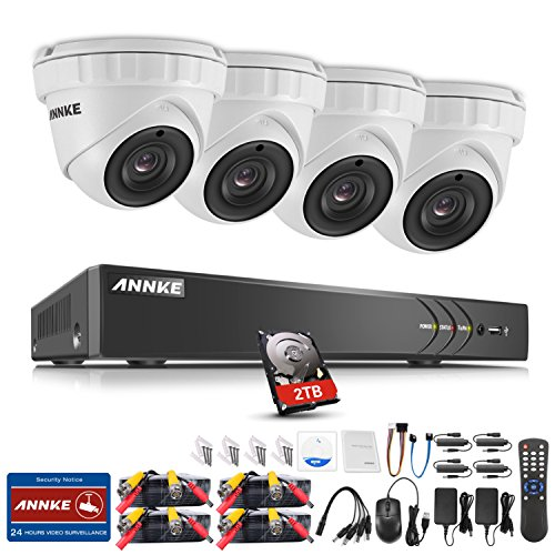 ANNKE 8CH 5 in 1 HD-TVI 3MP DVR Recorder Security System, wi