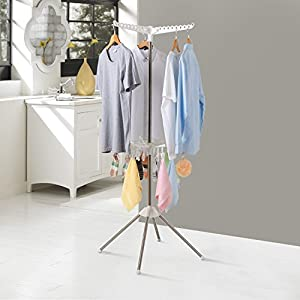 Lifewit Collapsible Clothes Drying Rack Portable 2-Tier Clothes Dryer for Hanging Laundry