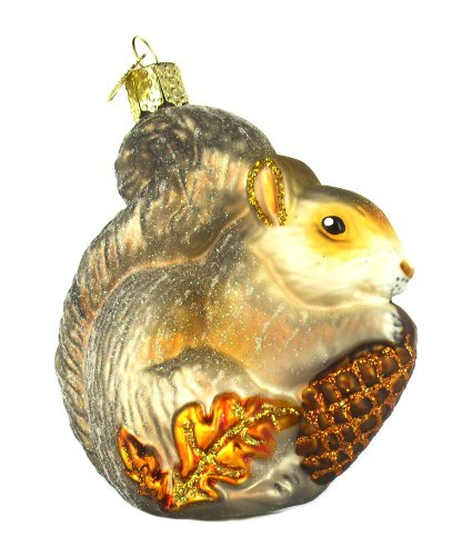 Old World Christmas Hungry Squirrel Glass Blown Ornament