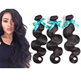 Swan 7A Grade Brazilian Virgin Hair Body Wave Human Hair 3Bundles Natural Color Unprocessed Hair Extensions (14″16″18″) For Sale