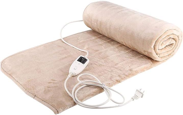 JIAJU Manta eléctrica del hogar de Doble Capa de Doble Control termostato de Seguridad Impermeable Estudiante de radiación Doble Franela de calefacción Manta 180 * 150 cm: Amazon.es: Hogar