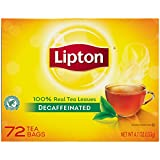 Lipton  Hot Tea, Black Decaffeinated 72-count Box