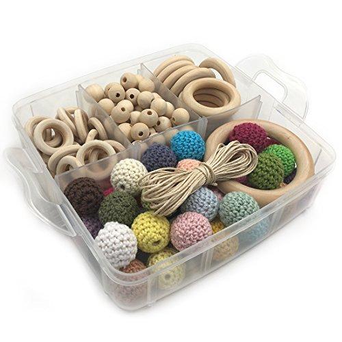 トップ Amyster DIY Beads Mixed Wooden Teething Kit (A153) Wooden Rings Wooden Geometric Hexagon Beads Abacus Beads Mixed Colors Crochet Beads Round Beads Baby Teether Set (A153) [並行輸入品] B078WX8R3P, ゴムシート シリコンShop あいづ:a6e33281 --- beyonddefeat.com