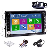 Universal Win 8 New Model 6.2 Inch Autoradio Multi-Media Audio GPS Navigation FM/AM In Dash Car DVD Player Touch screen LCD Monitor with Transmitter DVD CD MP3 MP4 USB SD Radio Bluetooth Stereo Free GPS Antenna with 8GB GPS Map +Rear Camera