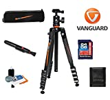Vanguard VEO 235AB Aluminum Tripod with Ball Head W/ Vanguard Case, 64GB SDXC Card, Cleaning Kit, Lens Pen, Memory Card Wallet