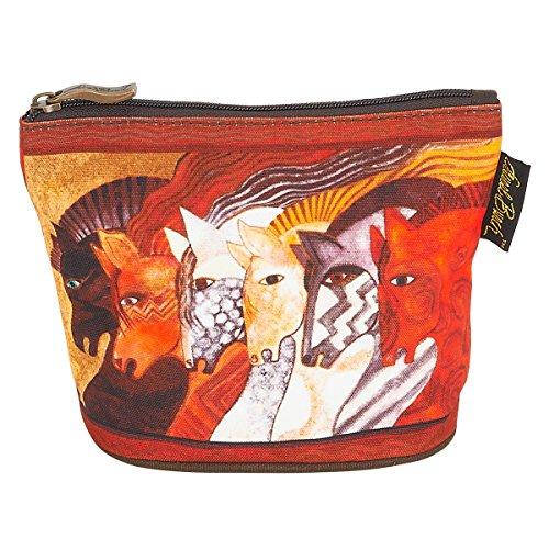 Laurel Burch Mythical Horses Cosmetic Clutch Pouch Moroccan - Laurel Burch Horses Mythical