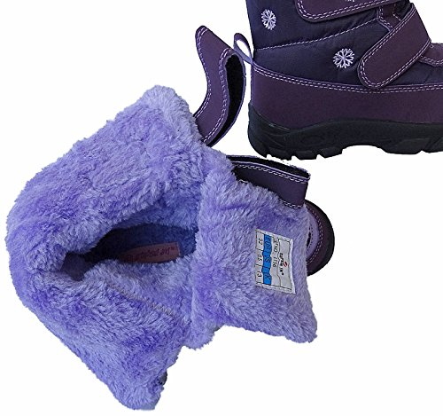 Mädchen Boots Kinder Winter Stiefel Warmfutter Gr. 25 - 36 Art.-Nr. 4156 purpel