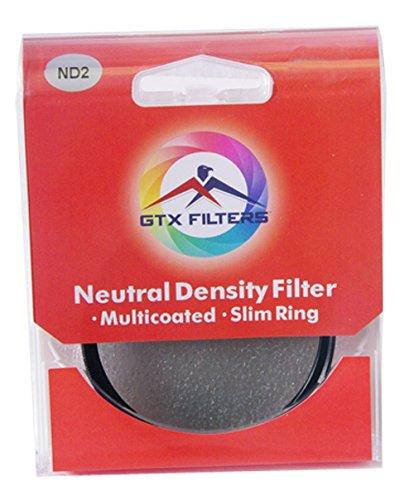 GTX FILTERS GF-X/ND249 X Series ND2 49mm Camera Lens Neutral Density Filter, Black