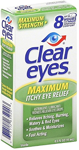 Clear Eyes Maximum Itchy Eye Relief 0.50 oz (Pack of 3)