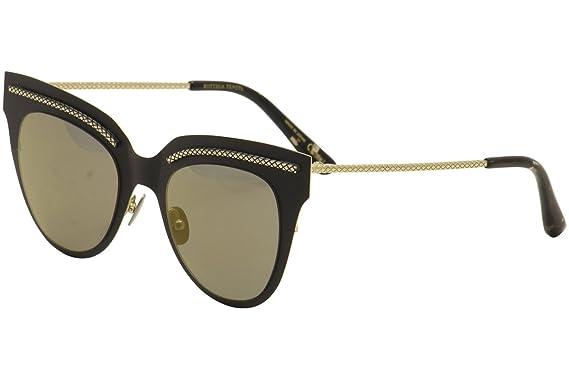 62902b1ae981f Amazon.com  Sunglasses Bottega Veneta BV0029S-002 BLACK   COPPER ...