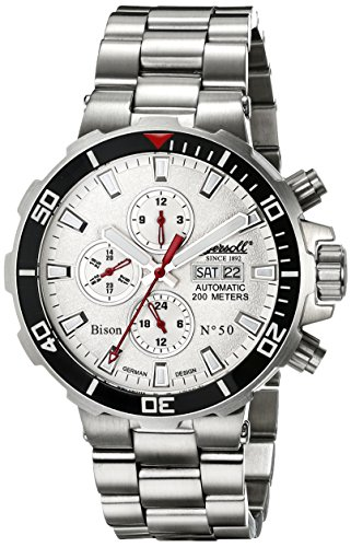Ingersoll Men's IN1314WHMB Bison No. 50 Analog Display Automatic Self Wind Silver Watch