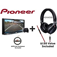 Pioneer AVH-4201NEX 7 DVD Receiver with Built in Bluetooth, Backup Camera with a Kenwood KH-KR900 Over the Ear Headphones and a FREE SOTS Air Freshner