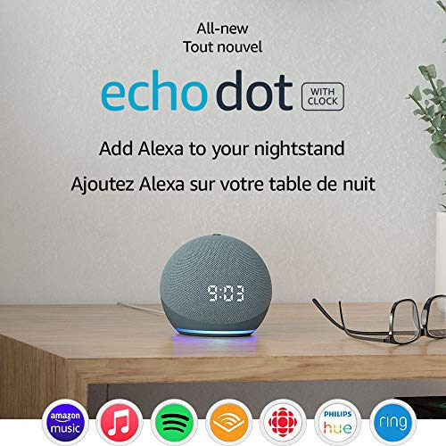 Echo Dot (4th Gen)   Smart speaker with clock and Alexa   Twilight Blue with Sengled Bluetooth bulb (Certified for Humans product)