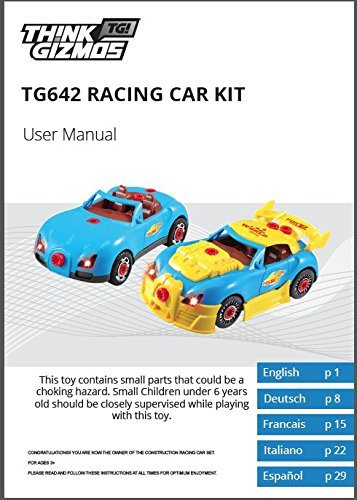 Think Gizmos Take Apart Toys Range - Build Your Own Toy Kit for Boys and Girls Aged 3 4 5 6 7 8 (Racing Car)