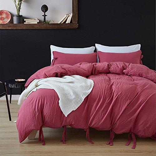 DuShow Solid Color Egyptian Wash Cotton Duvet Cover Luxury B
