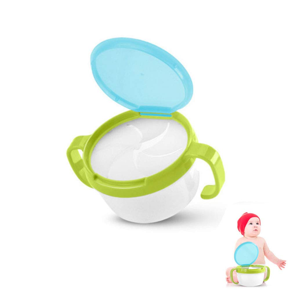 Baby Snack Keeper Spill-Proof Snack Cather with Double Handle and Twist-On for Kid Child Candy Biscuits Fruit Motige