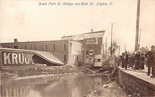 Dayton Ohio South Park Street Bridge And Main Street Bridge Collapse PC V13463 ()