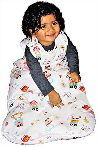 Baby Sleeping Bag Unisex, 2.5 Tog Winter Sleep Sack | Warm | 100% Cotton Lining Exterior & Interior | 100% Polyester Filling (18-36 Months)