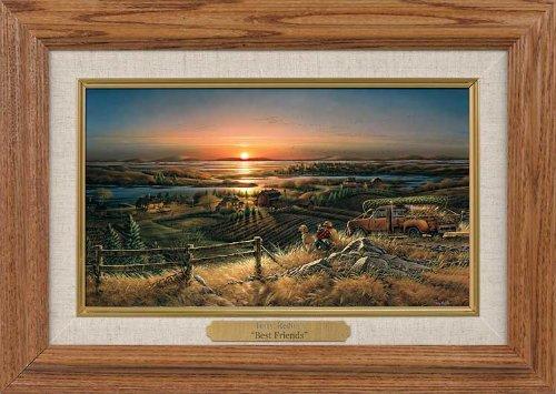 Wild Wings Best Friends Museum Framed Oak Collage by Terry Redlin (Terry Redlin Best Friends Print)