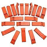(72 Pack) Emergency Safety Floating Orange Survival Kit Whistle Clip-On Keychain