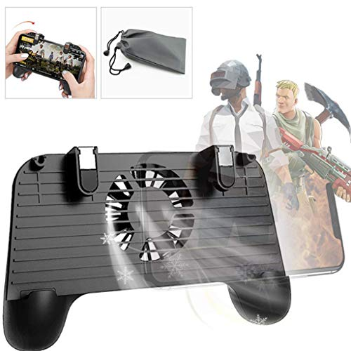 Fullfun Mobile Game Handle Holder Cooling Controller for PUBG 4in1 Gamepad Shoot and Aim Trigger Phone