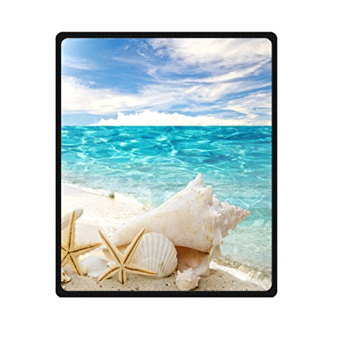 Starfish ocean beach Fleece Throw Blanket 50