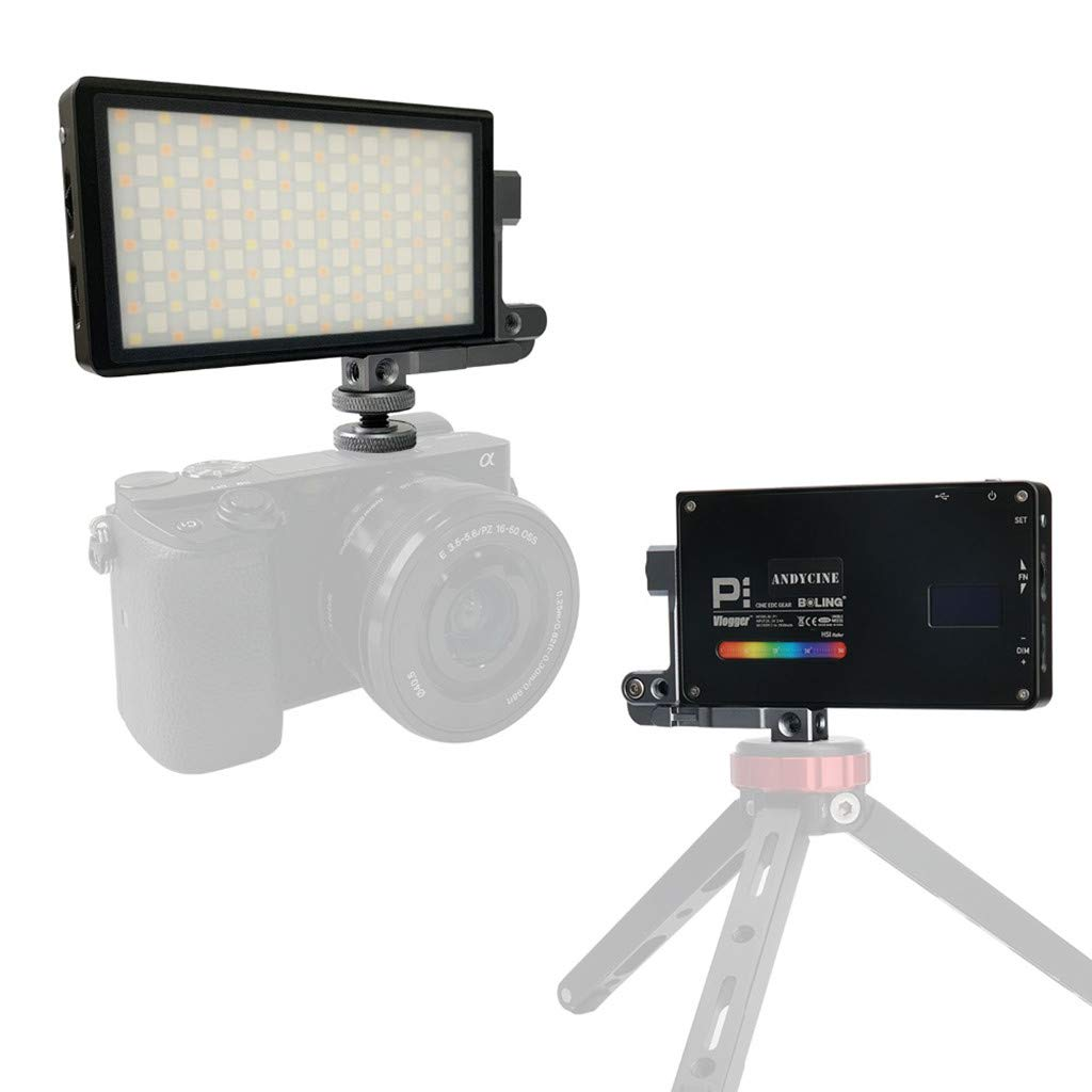 TADAMI Vlogger Boling P1 Handheld RGB led Video Light 2500K-8500K Bi-Color Camera & Photo Accessories (Black) by TADAMI (Image #1)