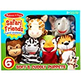 Melissa & Doug Safari Buddies Hand Puppets Puppet Set (6 Hand Puppets) Great Gift for Girls and Boys - Best for 2, 3, 4, 5 and 6 Year Olds