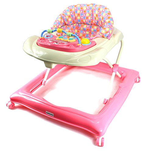 Bebemio Musical Play Mates Baby Walker w/ Adjustable Height, Lights, Sounds (Pink) by Bebemio