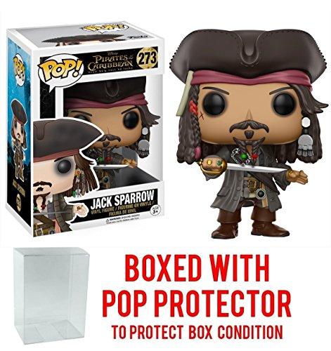 Funko Pop! Disney: Pirates of the Caribbean Dead Men Tell No Tales - Captain Jack Sparrow Vinyl Figure (Bundled with Pop BOX PROTECTOR CASE)