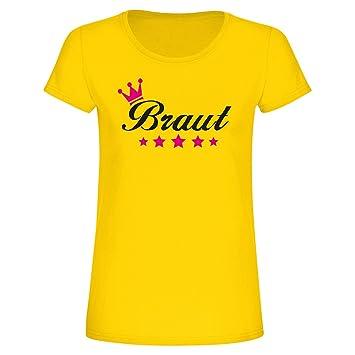 T Shirt Braut Mit Krone Und Sternen Fun Shirt