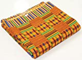 "African Kente Print Fabric Pattern 1 - 12 Yards 45"" Wide"