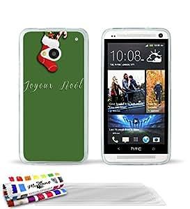 MUZZANO-Carcasa ultrafina para HTC ONE, diseño ultrafino noel_vert protección contra los impactos, ELEGANTE, resistente, 1 lápiz óptico y 1 gamuza de limpieza MUZZANO