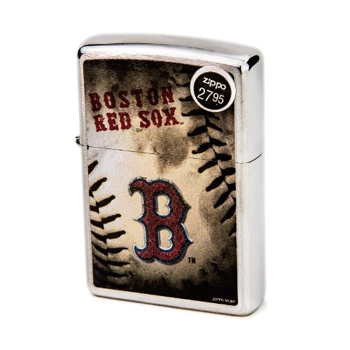 MLB Boston Red Sox Color Zippo Lighter - Mlb Sox Gift