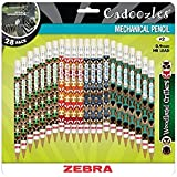 Zebra's Cadoozles #2 Mechanical Pencil 0.9mm Assorted Barrel Colors 28pk (51291)