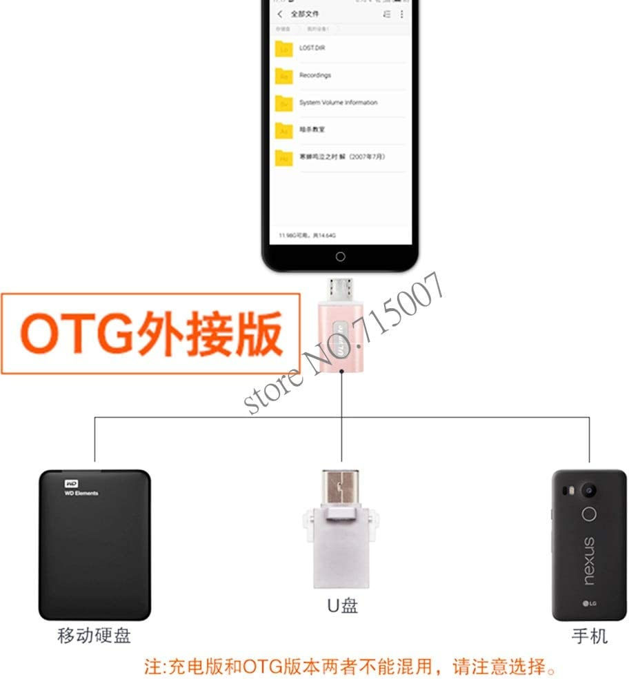 Cable Length Silver Computer Cables Yoton Quality Rose Gold Metal USB 3.1 Type C USB-C Female to Micro USB 2.0 Male Adapter Connector Adaptor