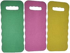 Smart Value Set of 3 Foam Kneeling Pads Perfect for Long Gardening Hours (3 Kneeling Pads Assorted Colors)