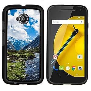 - Snow Mountain Landscape For Motorola Moto E 2nd Generation Duro Snap en el tel???¡¯???€????€?????fono celular de la cubierta @ Cat Family