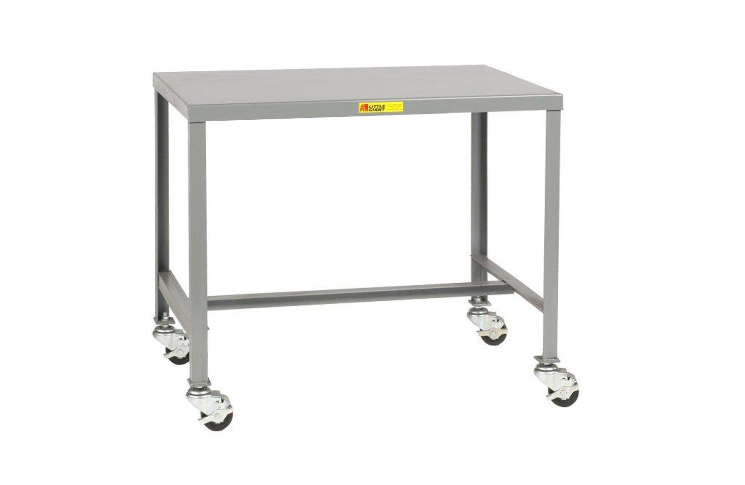 Little Giant MT1-1824-36-3R Mobile Steel Top Machine Table, 18'' D x 24'' W x 36'' H, Gray