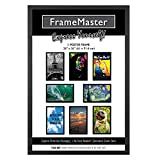 FrameMaster 24x36 Poster Frame, Black Wood Composite, Gallery Edition