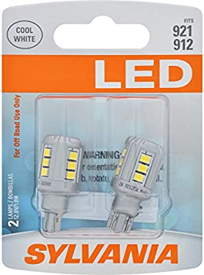 Amazon.com: SYLVANIA - 921 LED White Mini Bulb - Bright LED Bulb, Ideal for Interior Lighting - Map, Trunk, Cargo and License Plate (Contains 2 Bulbs): ...
