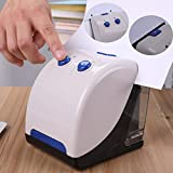 2 in 1 Electric Paper Punch and Stapler, Esdella Heavy Duty Automatic Electric Stapler and 2 Hole Paper Punch for Home, Office, Classroom and School, 16 or 20 Sheets, AC or Battery Powered