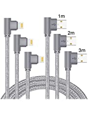 Lively Life Phone Charging Cable, Right Angled 90 Degree Charging Cable Nylon Braided Cord for Phone X 8 Plus 8 7 7 Plus, Pad