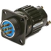 Negro Aluminio hembra y macho conector Circular Y2M-7TK