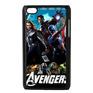 iPod 4 Black Cell Phone Case The Avengers Logo STY790336 Phone Case For Men
