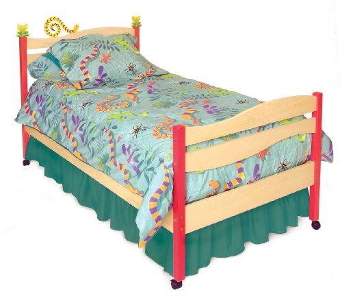 Little Lizard Twin Bed (Room Magic Twin Duvet Cover/Bedskirt/Sham Set, Little Lizards)
