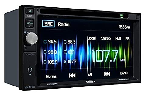 Jensen VX4022 6.2 inch LCD Multimedia Touch Screen Double Din Car Stereo with Built-In Bluetooth, CD/DVD Player & USB (Honda Accord Navigation Disc)